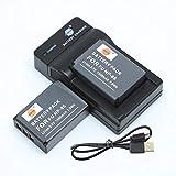 DSTE NP-85 - Batería y cargador para cámaras Fujifilm FinePix S1, SL240, SL245, SL260, SL280, SL300, SL305 y SL1000 (2 unidades)