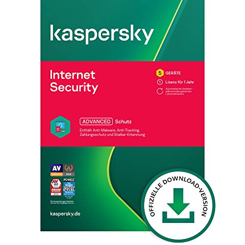 Kaspersky Internet Security 2021 Standard | 5 Geräte | 1 Jahr | Windows/Mac/Android | Aktivierungscode per Email