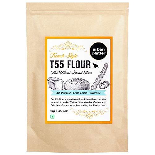 French T55 Fine Wheat Bread Flour , 1 KG (35.27 OZ) [Farine Francaise De Ble Premium Quality Choice of Artisan Bread Baker]