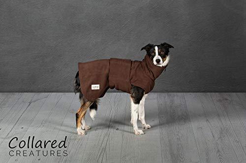 Collared Creatures - Abrigo de secado para perro, forro polar de microfibra...