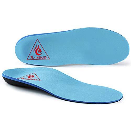 MUOU Orthopädische Bogenunterstützung Einlegesohlen Kämpfen Gegen Plantarfasziitis, indern Fußschmerzen Fersenschmerzen Pronation Für Mann Frauen Sport Sneaker Laufschuhe Schuhe (43, Blau)