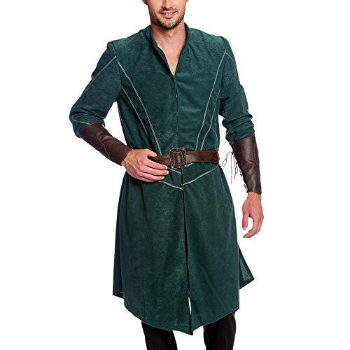 Legolas Woodland Gentlemen Costume 3pcs para los fanáticos de El señor de los Anillos Elbenwald Verde marrón - 58/60