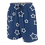 Kxybz Blue Stars Mens Swim Trunks Shorts Quick Dry Bathing Suits Beach Surfing Board Shorts for Boys and Girls Age (7~20) 14-16 Years