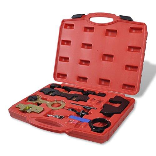 vidaXL 11 tlg Motor Einstellwerkzeug Set Arretierwerkzeug Nockenwelle Kurbelwelle Arretierung Kfz Werkzeuge für BMW M42/44/50/52/54/56