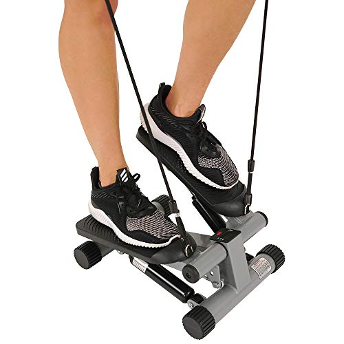 Product Image 6: Sunny Health & Fitness Mini Stepper with Resistance Bands