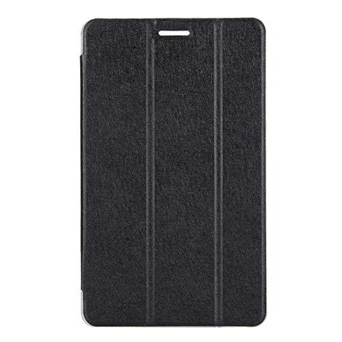YANTAIAN Huawei MediaPad T3 8 Pulgadas Silk Textura Horizontal Flip Funda de Cuero con Soporte Plegable 3 (Color : Black)