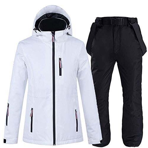 Ski Jacket Ski Suit Mannen En Vrouwen Waterdichte Jas Plus Broek Verdikte Windbreaker/Sneeuwbroek Geschikt voor Ski Vakantie Camping Wandelen Ideaal Ski Kleding in Winter