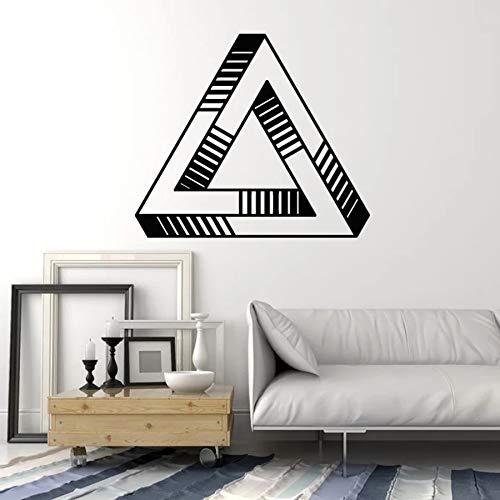 Tianpengyuanshuai Muurtattoo vorm optische illusie geometrisch element vinyl sticker slaapkamer woonkamer creatieve wandafbeelding