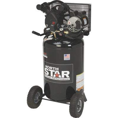 NorthStar Portable Electric Air Compressor —-1.6 HP, 30-Gallon Vertical, 5.3 CFM