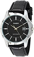 Casio Watch For Men Black Dial Leather Band - MTP-V004L-1AUDF