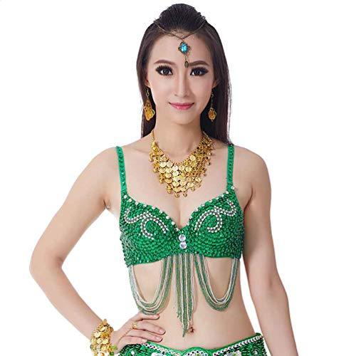 Disfraz De Danza del Vientre para Mujer Sujetador De Baile Profesional Carnival Sexy Fancy Traje De Baile