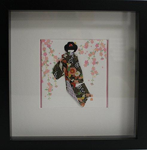 Cuadro de origami de geisha