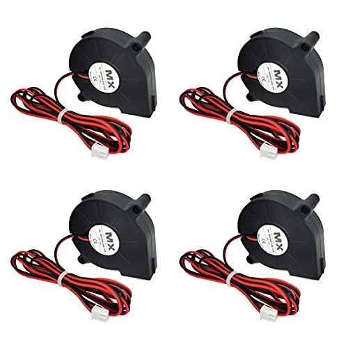 Impresoras 3D Ventilador 12v Accesorios Para Impresoras 3D 50 x 50 x 15 mm Ventilador Silencioso Con Cable De 30 cm, Utilizado Durante 50.000 Horas, Se Utiliza Para Eenfriar La Impresora, 4 Piezas