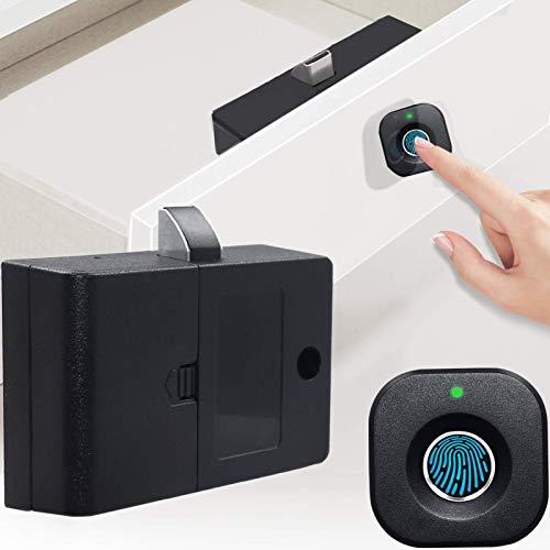 Cerradura de Cajón de Huellas Dactilares,Cerradura Inteligente para Armario USB Recargable sin llave para Muebles de Armario de Cajones de Oficina en Casa Apoyar el uso de Varias Personas