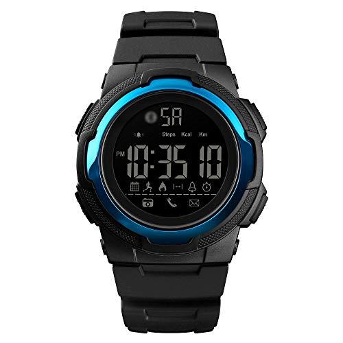 Somviersb wasserdichte Sport Smart Watch 1440 Multifunktionsunterstützung Bluetooth/Bewegungsüberwachung/Anruferinnerung (Farbe : Himmelblau)