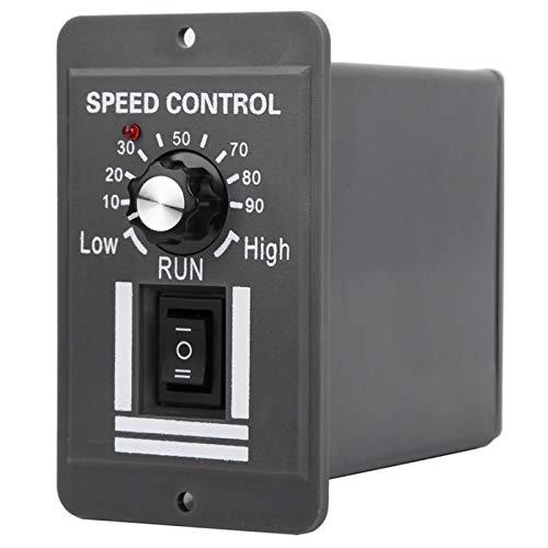YUNJINGCHENMAN Controlador de Velocidad del Motor DC12-60V 20A Cepillo DC Regulador de Velocidad del Motor eléctrico hacia adelante/gobernador del Motor del Reverso