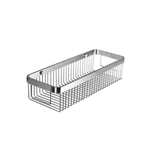 Canasta de almacenamiento multifuncional para el h Bastidores de baño 304 de acero inoxidable de lado ancho cepillado línea rectangular cesta cesta cesta cesta almacenamiento proceso de dibujo instala