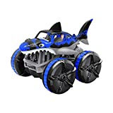 Waterproof Remote Control Grass Land Driving Shark Light RC Car Learning Toys for Kids Gift Toys for 1 2 3 4 5 Years Old Boys Girls
