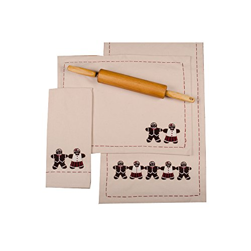 Home Collections by Raghu 14x18 Gingerbread Buttermilk Placemat, 6 Piece