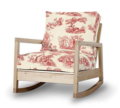 Dekoria Lillberg Sesselbezug Husse passend für IKEA Modell Lillberg Creme- rot