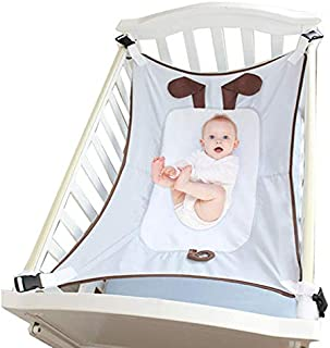 Crib Hammock, Crib Bedding Accessories for Newborn Baby - Mimics WOM - Thickened Soft Mesh Sleeping Cradle with Mesh Support and Adjustable Straps, Cartoon Design, Safe and Comfortable