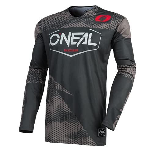 O'NEAL | Motocross-Trikot | Enduro Motorrad | Schnell trocknendes Performance-Material, kragenloses Design, Athletische Passform | Jersey Mayhem Covert | Erwachsene | Charcoal Grau | Größe M