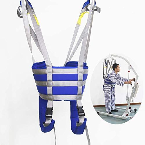 41IvfedzxoL - Grúa de paciente portátil Equipo Paciente Caminar honda de la banda de transferencia con altura ajustable for ancianos, honda Punto Superior de cuerpo completo levantador Cuatro con acolchado de tampó