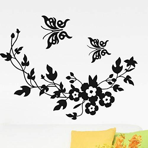 Hermosa Mariposa Pegatinas De Pared Extraíbles Para Árbol De Dormitorio Y Amplificador;Flores...