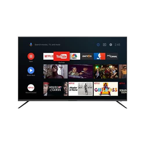 KAGIS U58S1UHD 146cm (58 Zoll) Monitor/TV ohne Tuner (4K Ultra HD, HDR, Kein Tuner, Smart-TV, Android TV 9, Fernbedienung mit Mikrofon, Video, Netflix und YouTube)