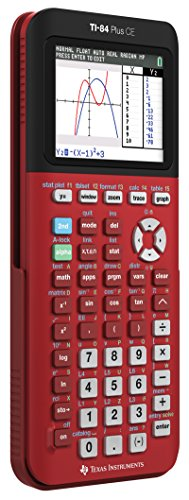 Texas Instruments TI-84 Plus CE Color Graphing Calculator, Radical Red Photo #2