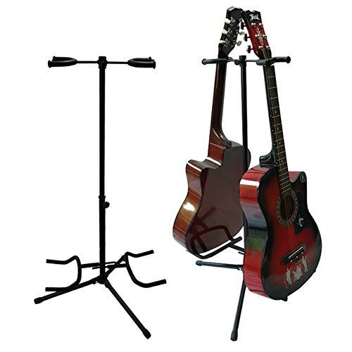 Wgwioo Trípode Soporte De Guitarra, Sostiene 2 Guitarras, Bajo Eléctrico Acústico Guitarra...
