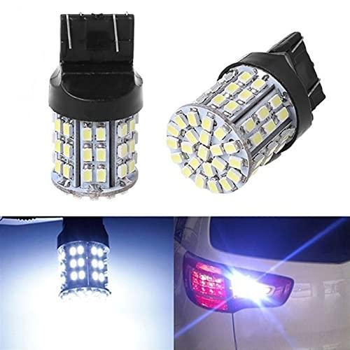 youyu6-2o521 Faros LED 2PCS T20 LED Luz de Freno de Coche W21W 7443 7440 3156 3157 64SMD 1206 LED Bombilla de la lámpara de la luz de la Cola de la Reserva automática Blanca 12V El Ahorro de energía