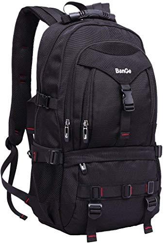 Sport Rucksack Wasserdichter Daypacks Laptoprucksäcke mit 15.6 Zoll Laptop-fach Backpack Schwarz für Herren Outdoor Reisen ,35l