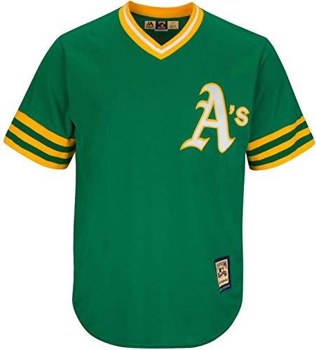 MLB Youth 8-20 Blank Cool Base Cooperstown Color Team Jersey (Youth - Small, Oakland Athletics Cooperstown Green)