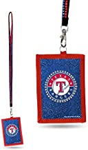 MLB Texas Rangers Beaded Gem Lanyard with ID Wallet
