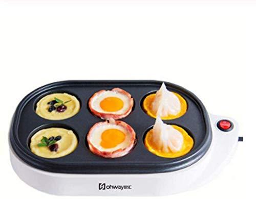 LXYZ Brotmaschine, vollautomatische Omelett-Bratpfanne Burger-Maschine Frühstücksmaschine Pfannkuchen-Back-Ei-Dampfgarer