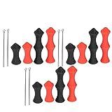 Cosiki 𝐑𝐞𝐠𝐚𝐥𝐨 𝐝𝐞 𝐍𝐚𝒗𝐢𝐝𝐚𝐝 Herramienta para protección de Dedos con Cuerda de Arco, con 6 alicates para protección de Dedos con Cuerda de Arco, Protector de Silicona para Cuerdas de Arco