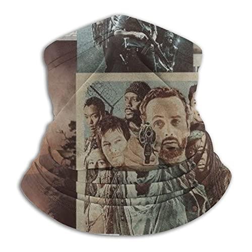 Calentador de cuello The Walking Dead Face Bufanda para hombre Multifuncional Bandana Diadema Snood Bufanda ajustable para la cara del cuello, bufanda unisex para motocicleta