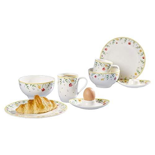 Villeroy & Boch Spring Awakening Frühstücks-Set, Premium Porzellan, Bunt