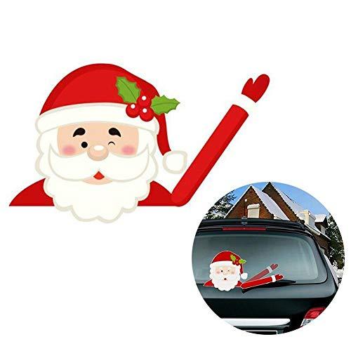 Kerstman auto stickers, ruitenwissers achter hoge kwaliteit kerstdecoratie kerstman A