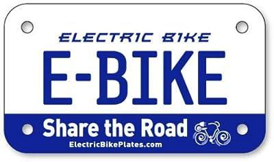 "scooter E-Bike Electric Bike License Plates 4""x7"""
