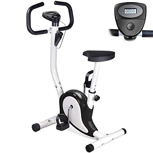 LCYZ Bicicleta Spinning Interior para Hogar, Equipo Fitness Peso Máximo 265LB, Dispositivo Pérdida Peso Resistencia Antideslizante, Plegable Bicicleta Estática,Negro