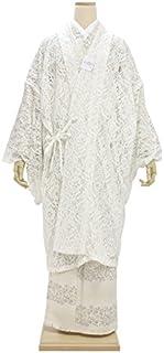 レースコート 白 ホワイト フラワー 花 小紋用 和装コート アウター レディース Mサイズ Lサイズ