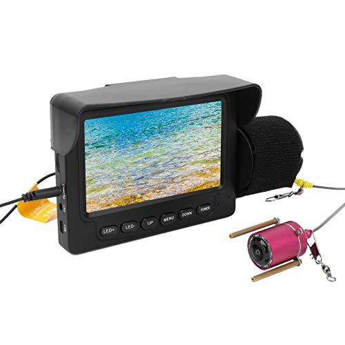 Pwshymi Videocamera Subacquea con Schermo a Colori per Ambiente subacqueo con tettuccio Parasole Rimovibile per Il monitoraggio dell'acquacoltura per l'esplorazione(30 Meters Long)
