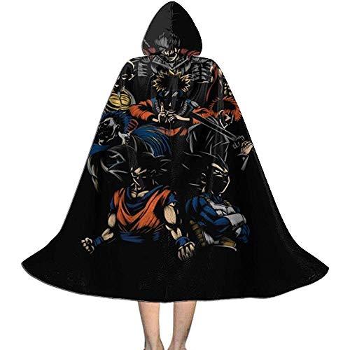 Niet toepasbare hekmagie omhang,volwassene luxe omhang,kap met capuchon, onverzegelbare Anime Team Vampier-omhang,Halloween Party Decoratie Outwear, heksen toveringsgordel