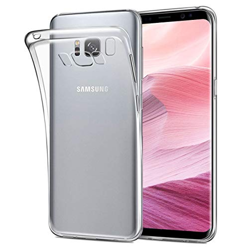 NEW'C Coque Compatible avec Samsung Galaxy S8, Ultra Transparente Silicone en Gel TPU Souple Coque de Protection...