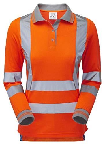 Pulsar PR703 Rail Spec - Polo da Donna, a Maniche Lunghe, Colore: Arancione, 24