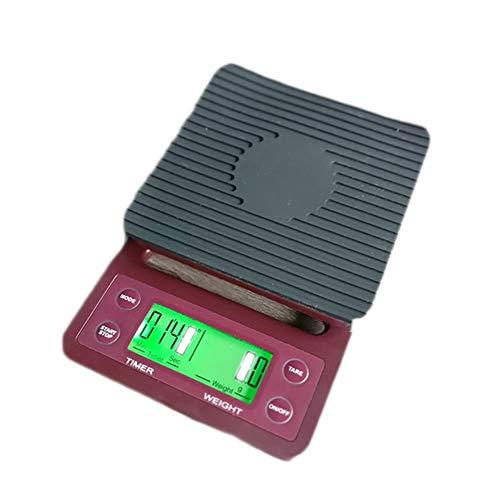 Kaffee elektronische Waage, stilvoll und schön ABS Multi-Funktions-Timing elektronische Waage, 3 kg / 0,1 g