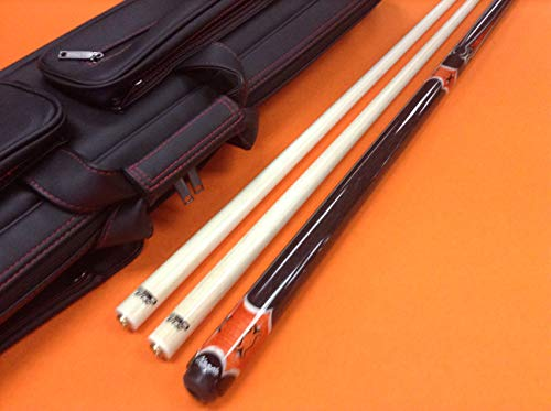 Find Discount Longoni Carom CUE Magma S30 SHAFTS & TOP Notch Leather CASE.