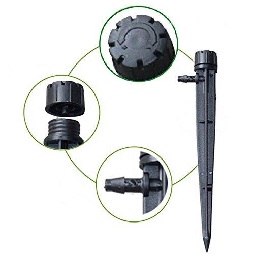Bluelover 50 stuks 8 stopcontacten tuin verstelbare ingezette druppelaar Micro sprinkler 360 graden